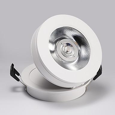 PUSHENG spot Light Luz Ambiente Alumínio Resina Ajustável, Montagem do Fluxo Genérico Branco Quente / Amarelo