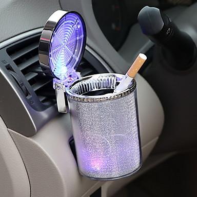 preiswerte Aschenbecher-Auto bunten Aschenbecher mit LED-Leuchten Auto Aschenbecher Blasdüse multifunktionale Becherhalter Blasdüse Aschenbecher flammhemmend