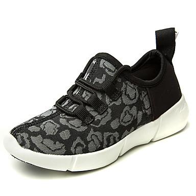 preiswerte Herrenschuhe-Unisex Leuchten Schuhe Mikrofaser Herbst Winter Freizeit Sportschuhe Walking Atmungsaktiv Schwarz / Weiß / Rosa
