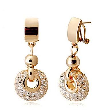 levne Dámské šperky-luxusní růžové zlato kapky náušnice šampaňské dráty zirkon křišťál ženské módní šperky 4,8 cm * dlouhé a 2 cm široké