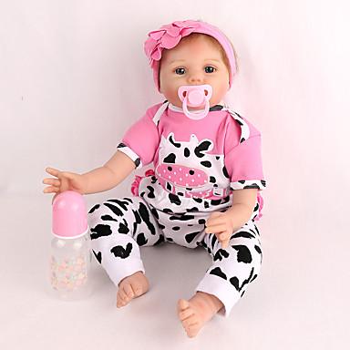 preiswerte Puppen-NPK DOLL Lebensechte Puppe Wiedergeborene Kleinkind-Puppe Baby Jungen Baby Mädchen 22 Zoll Sicherheit Geschenk Niedlich Kinder Unisex Spielzeuge Geschenk