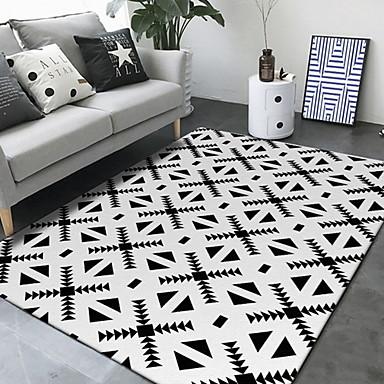 Os tapetes da área Modern Poliéster, Quadrangular Qualidade superior Tapete
