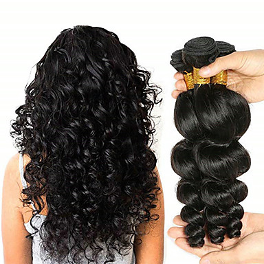 povoljno Ekstenzije od ljudske kose-3 paketa Peruanska kosa Valovita kosa Virgin kosa Netretirana  ljudske kose Ljudske kose plete Produžetak Bundle kose 8-28 inch Natural Isprepliće ljudske kose Odor Free Modni dizajn Žene Proširenja