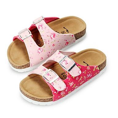 preiswerte Kinderhausschuhe-Mädchen Komfort PU Slippers & Flip-Flops Kleine Kinder (4-7 Jahre) Weiß / Silber / Rosa Sommer