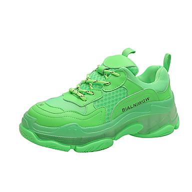 preiswerte Schuhe und Taschen-Damen Sportschuhe Creepers Geschlossene Spitze PU Rennen / Walking Frühling & Herbst Grün / Weiß / Gelb