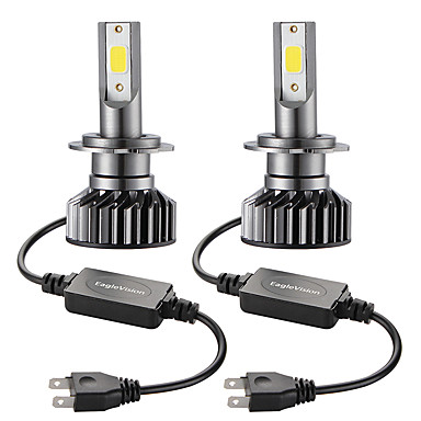 cheap Car Lights-2PCS Mini Car LED Headlight Bulb  H7 Hi/Lo 72W 10000LM Car Headlight Car Front Bulb Super Bright White Beam 6000K 12V Car Modeling Fog Light Kit