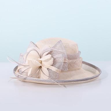povoljno Party pokrivala za glavu-100% posteljine Fascinators / kape s Perje / Color blok 1pc Special Occasion / Zabava / večer Glava