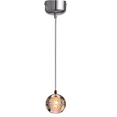 Único pingente de luz globo de cristal luz pingente luz ambiente galvanizado metal