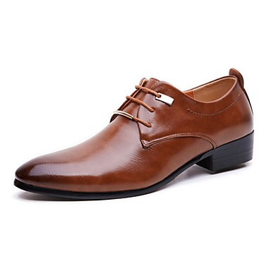 cheap Men's Oxfords-Men's Oxfords Dress Shoes Derby Shoes Business / Classic / British Daily Party & Evening Office & Career PU Non-slipping Wear Proof Black / Brown Gradient Fall