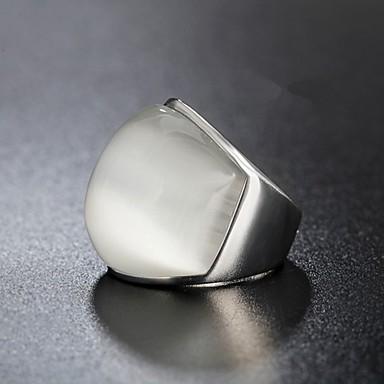 billige Motering-Herre Band Ring Ring 1pc Grønn Blå Rosa Titanium Stål Sirkelformet Vintage Grunnleggende Mote Daglig Smykker