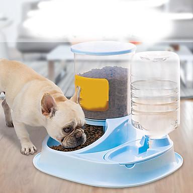 preiswerte Schüsseln & Futternäpfe für Hunde-Hunde Katzen Futter- & Trink-Vorrichtungen / Schalen & Wasser Flaschen / Futter-Vorrichtungen 2.5 L Harz Wasserdicht Waschbar Langlebig Solide Grau Blau Rosa Schüsseln & Füttern