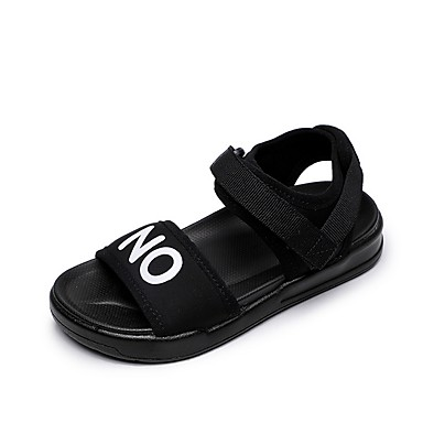 preiswerte Schuhe für Kinder-Mädchen Komfort Leinwand Sandalen Kleine Kinder (4-7 Jahre) Schwarz / Rot Herbst
