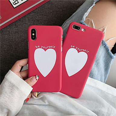 povoljno iPhone maske-futrola za jabuku iphone xs / iphone xr / iphone xs max frosted / pattern stražnji poklopac igranje s logotipom jabuke / heart pc za iphone 6/7/8 / 6plus / 7plus / 8plus / x / xs / xr / xs max