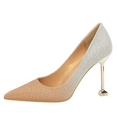 women's heels stiletto heel pointed toe sequin faux
