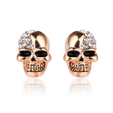 2/paires oidea Boucles doreilles Homme T/ête de Mort Cr/âne Acier Inoxydable Poli Hip Hop Punk Argent Noir
