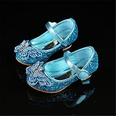 Para Meninas Sapatos para Daminhas de Honra Couro Ecológico Saltos Criança (9m-4ys) / Little Kids (4-7 anos) Gliter com Brilho Azul Primavera / Outono / Festas & Noite / Borracha