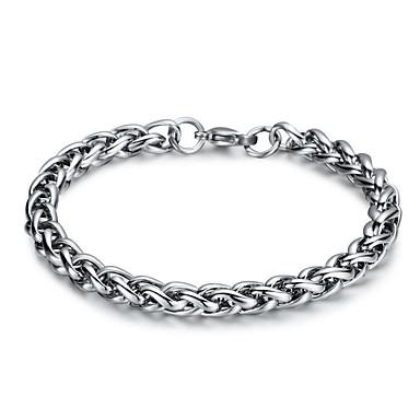voordelige Herensieraden-Heren Wide Bangle Retro Kruis Punk Titanium Staal Armband sieraden Zilver Voor Dagelijks