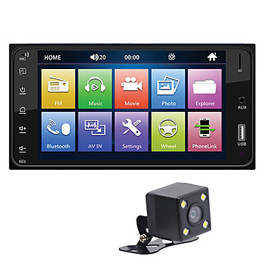 [$51 99] 7 inch FHD Car Mounted 2 Way Mirror Link MP4 MKV MP5 USB SD  Bluetooth Player Reversing Image for Apple iPhone AirPlay Android Toyota  Avanza
