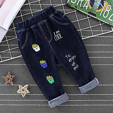 povoljno Odjeća za dječake-Djeca Dječaci Osnovni Punk & Gotika Print Print Traperice Plava