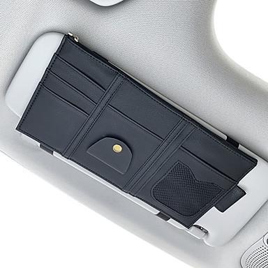 billige Interiørtilbehør til bilen-Organisasjon til bilen CD-sak / Kortholder / Glasses Klipp PU Leather / Nylon Til Universell Alle år