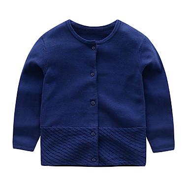 povoljno Odjeća za bebe-Dijete Djevojčice Aktivan / Osnovni Print Dugih rukava Džemper i kardigan Blushing Pink