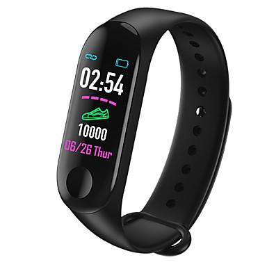 olcso Ékszerek&Karórák-Intelligens Watch Digitális Modern stílus Sportos Szilikon 30 m Vízálló Szívritmus monitorizálás Bluetooth Digitális Alkalmi Szabadtéri - Fekete Piros Kék