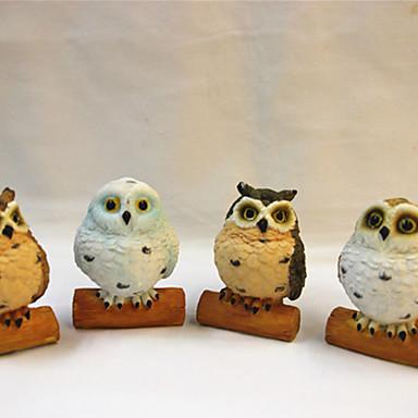 Presente / De Cama Resina Lembrancinhas Práticas / Figuras e Estátuas / Ornamentos Animal - 4 pcs