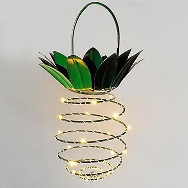 1 pc led criativo abacaxi forma noite luz partido decorativo branco quente de energia solar<5 v