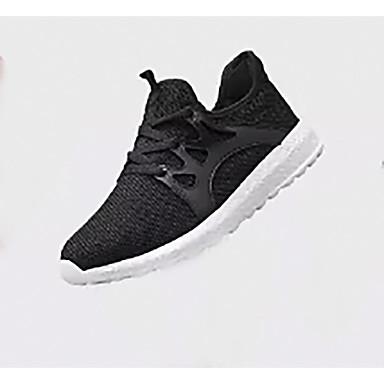 Homens Sapatos Confortáveis Com Transparência Primavera Casual Tênis Caminhada Respirável Preto / Branco e Preto / Vermelho