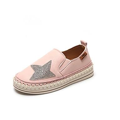 Para Meninas Sapatos para Daminhas de Honra Couro Ecológico Mocassins e Slip-Ons Little Kids (4-7 anos) Preto / Rosa claro / Bege Outono