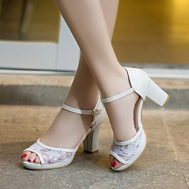 저렴한 아동 샌달-여아 플라워 걸 신발 PVC 샌들 빅 키즈 (7 년 +) 화이트 / 블루 / 핑크 여름