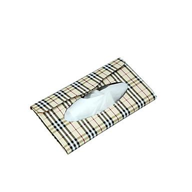 voordelige Auto-organizers-230 * 115 * 22mm zonneklep auto lederen tissue doos auto decoratie servethouder papieren handdoek doos modelstissue boxpack