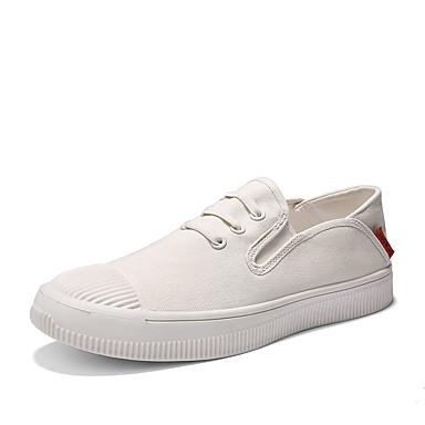 men's comfort shoes canvas / linen summer casual sneakers