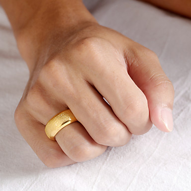 billige Båndringe-Herre Band Ring Ring 1pc Gull Rustfritt Stål 14K gullbelagt Stilfull Luksus trendy Fest Daglig Smykker Klassisk Dyrebar Englevinger