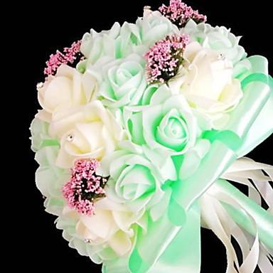 Flores artificiais 2 Ramo Clássico buquês de Noiva Flores eternas