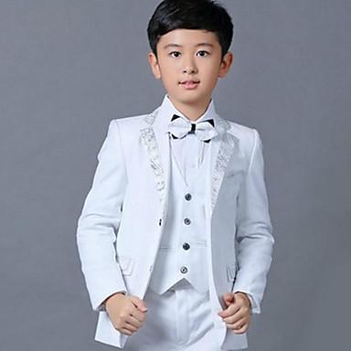 povoljno Odjeća za dječake-Djeca Dječaci Osnovni Jednobojni Dugih rukava Pamuk Odijelo i sako Obala