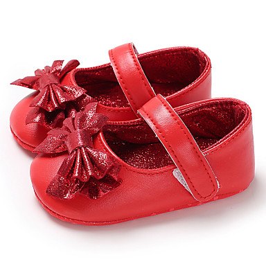 cheap For ages 0-9 mos.-Girls' First Walkers PU Flats Infants(0-9m) / Toddler(9m-4ys) Fuchsia / Silver / Red Spring / Summer
