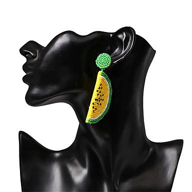 povoljno Modne naušnice-Žene Viseće naušnice U obliku pletenice Voće Tropical slatko Šarene Smola Naušnice Jewelry Bijela / Crvena Za godišnjica Ulica Jabuka 1 par