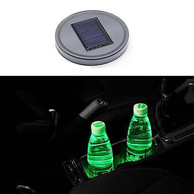 billige Interiørtilbehør til bilen-bil ledet vann kopp matte solenergi kopp pad anti-skid pad innredning