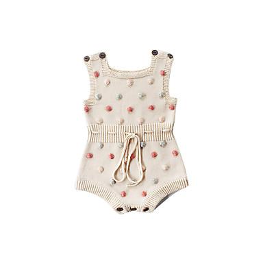 povoljno Odjeća za bebe-3 komada Dijete Djevojčice Aktivan / Punk & Gotika Na točkice / Color block Vezanje straga Bez rukávů bodysuit Blushing Pink