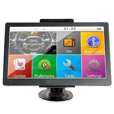 billige Bil Elektronikk-7 tommers gps-navigasjon sat nav 256 ram / 8 gb bluetooth av-in fm-sendersbunt gratis nye kart
