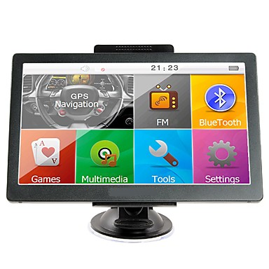 levne Auto Elektronika-7 palcová GPS navigace GPS sat sat 256 RAM / 8GB bluetooth av-in fm vysílač svazku zdarma nové mapy