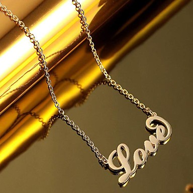 cheap Customized Jewelry-Personalized Customized Necklace Name Necklace Titanium Steel Classic Name Engraved Gift Promise Festival Round 1pcs Rose Gold Gold Silver