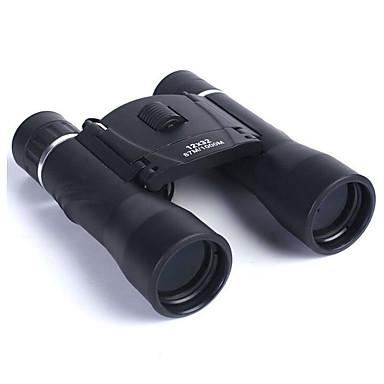 Binóculos 12x32 dobráveis telescópio de filme verde de alta definição