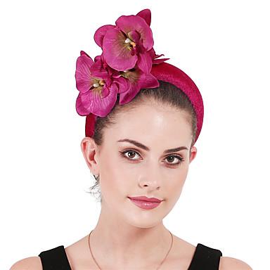 povoljno Party pokrivala za glavu-Poliester / poliamid Trake za kosu / Fascinators / Cvijeće s Cvjetni print / Cvijet 1 Zabava / večer / Kentucky Derby Glava