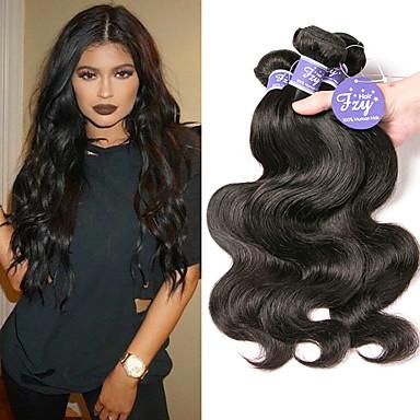 povoljno Ekstenzije od ljudske kose-3 paketa Malezijska kosa Tijelo Wave Remy kosa 100% Remy kose tkanja Bundle Ljudske kose plete Produžetak Bundle kose 8-28 inch Natural Isprepliće ljudske kose Žene Sexy Lady Prirodno Proširenja