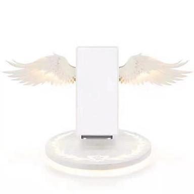 preiswerte Deko-Lichter-drahtloses Aufladeeinheitsengelsflügelnachtlicht-Handy drahtloses Aufladeeinheit für androides iphone usb schnelles Aufladen 10w