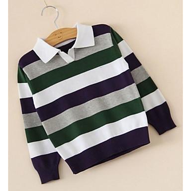 povoljno Odjeća za dječake-Dijete koje je tek prohodalo Dječaci Aktivan Osnovni Prugasti uzorak Dugih rukava Džemper i kardigan žuta
