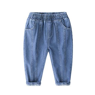 preiswerte Jeanshosen für Jungen-Kinder Jungen Aktiv Grundlegend Solide Jeans Blau