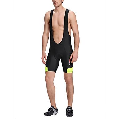 21Grams Homens Bermudas Bretelle Moto Shorts Calções Bibes Respirável Tapete 3D Secagem Rápida Esportes Geométrico Elastano Preto Ciclismo de Montanha Ciclismo de Estrada Roupa Forma Assenta Roupa de